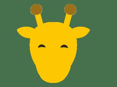 Giraffe Face Image